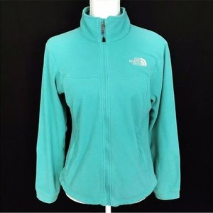 The north face  Green fleece Jacket Full Zip Top